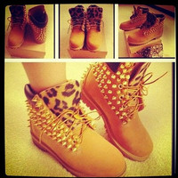 Studded Leopard Tims by TyeDyeLand on Etsy