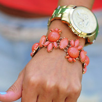 Crewlicious Coral Bracelet: Gold | Hope&#x27;s