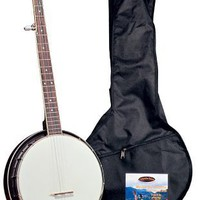 Saga Appalachian Full Size Five String Resonator Banjo