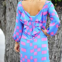 Ship Shape Bow Dress: Turquoise/Pink | Hope&#x27;s
