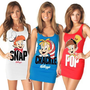 Rice Krispies Cereal Snap Crackle Pop Juniors Costume Tank Dresses:Amazon:Clothing
