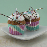 Chocolate Cupcake Earrings