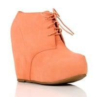 Peach Platform Booties