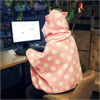 Cute Rabbit Portable Cloak Blanket_Travel Warming Gown Leg Warmer