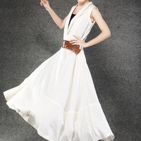 white dress long summer dresses