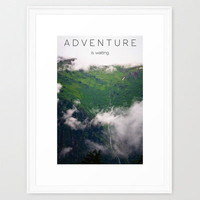 Adventure Is Waiting Framed Art Print by Ann B.