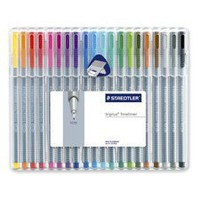 STD334SB20 - Fineliner Porous Point Pen, .3mm, 20/BX, Assorted