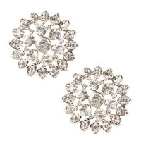 Silver Vintage Rhinestone Earrings