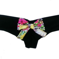 Brazilian Floral Bow Bottoms