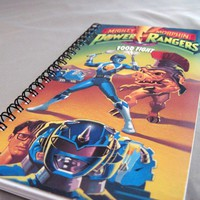 The Blue Ranger Notebook - Recycled VHS