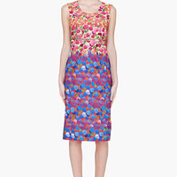 Marc Jacobs Multicolor Belted Floral Print Dress for women | SSENSE