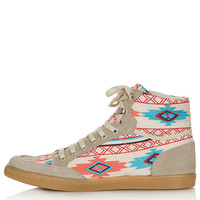 TEEPEE2 Aztec Hi-Tops - Topshop USA