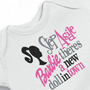Funny Onesuit Girl Step Aside Barbie Bodysuit  for the Baby Embroidered