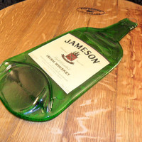 Flattened  Jameson Bottle with Label.  Makes a Great Serving Platter, or Bar Decor.  Great Wall Hanging