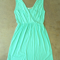 Sweet Summer Walks Dress in Mint [2940] - $32.00 : Vintage Inspired Clothing & Affordable Fall Frocks, deloom | Modern. Vintage. Crafted.