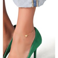 Jennifer Zeuner Jewelry Butterfly Anklet | SHOPBOP