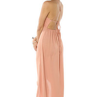 LA Boutique Dress Sweet Maxi in Salmon