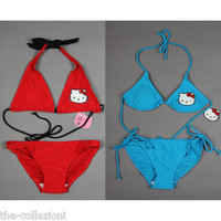 SANRIO HELLO KITTY BIKINI BATHING SUIT SWIMSUIT XS S M L RED / TURQUOISE on eBay!