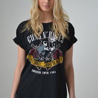 Unisex Guns N Roses 91&#x27; Tour T-shirt from Lily Vintage