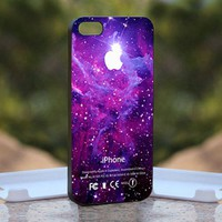 Strom Purple Galaxy Nebula, Print on Hard Cover iPhone 5 Black Case