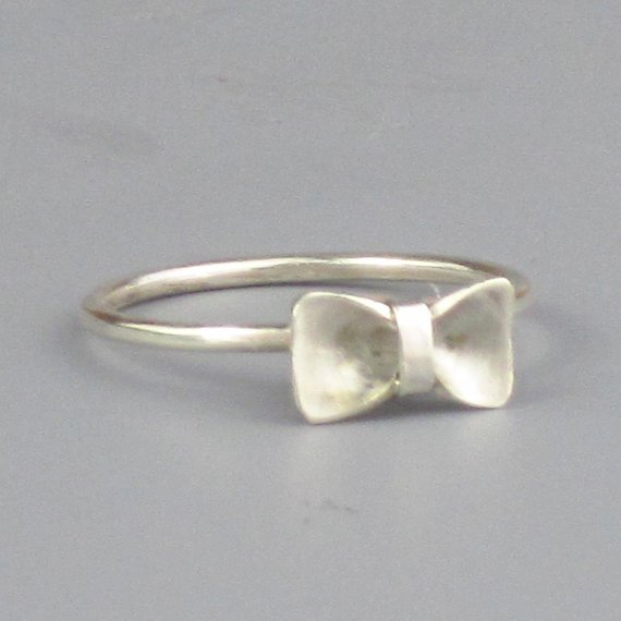 Bow Tie Sterling Silver Ring Free Shipping by FancyBrandRings