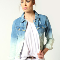 Ria Dip Dye Denim Jacket