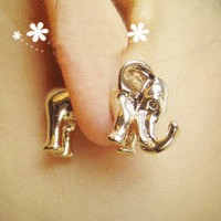 Neon Fashion 3D Elephant Single Ear Stud  from LilyFair Jewelry