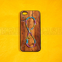 iphone 4 Case, iPhone 4s case - Infinity on Vintage wood Print(not a real wood) Case iPhone 4 Cases, Iphone 4s Cover,Case for iPhone 4
