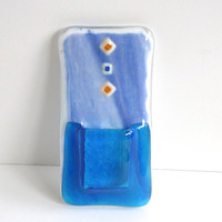 Blue Glass Pocket Magnetic Vase