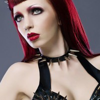 LATEX SPIKEY CHOKER