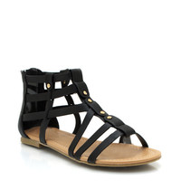 studded-gladiator-sandals BLACK - GoJane.com