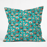 DENY Designs Home Accessories | Madart Inc. Sea of Whimsy Sea Shell Pattern Outdoor Throw Pillow