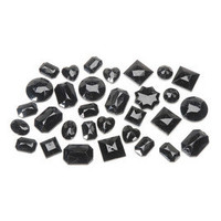 Black Rhinestones, Assorted Shapes, 22 grams  & fabric-crafting at Joann.com