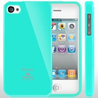 SQ1 [Mercury] Slim Fit Flexible TPU Case for Apple iPhone 4 (Turquoise Mint):Amazon:Cell Phones &amp; Accessories