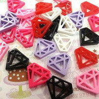 6 pcs Diamond Kawaii Cabochon