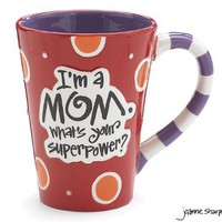 "I'm A Mom, What's Your Super Power?"" 12oz Coffee Mug Great Gift for Mother:Amazon:Kitchen & Dining"