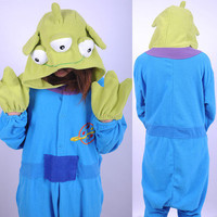 Squeeze Toy Story Aliens little green men costumes pajamas Onesuit pyjamas hoodie