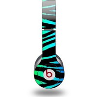 Rainbow Zebra Decal Style Skin (fits Beats Solo HD Headphones - HEADPHONES NOT INCLUDED):Amazon:Electronics