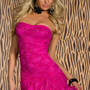 Fashion Ruffled Forting Lace Off The Shoulder Sleeveless Polyester Sheath Mini Dress_Dresses_Womens Clothing_Cheap Clothes,Cheap Shoes Online,Wholesale Shoes,Clothing On lovelywholesale.com - LovelyWholesale.com
