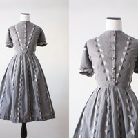 50s dress - 1950&#x27;s dress - eagle print dress
