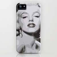 Marilyn Monroe iPhone & iPod Case by  David Somers