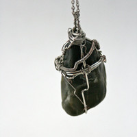 Wire Wrap Pendant Made With Locally Found Sonoma by ByTheSeals