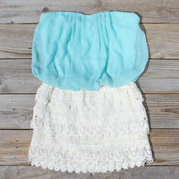 Laced Aura Dress in Mint, Sweet Women's Bohemian Clothing