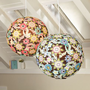 Ocean Floral Round Paper Lantern