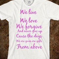 we live we love - Sewinsweety - Skreened T-shirts, Organic Shirts, Hoodies, Kids Tees, Baby One-Pieces and Tote Bags