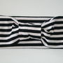 Black and white striped turban