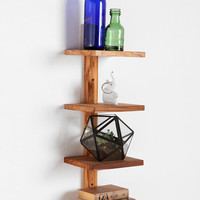Teak Spine Wall Shelf - Small