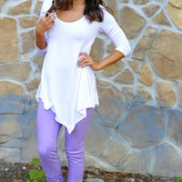 Comfort Is Key Tunic: White | Hope&#x27;s