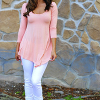 Comfort Is Key Tunic: Pale Peach | Hope's