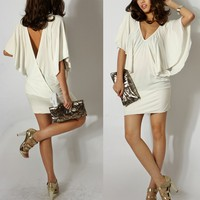 Krazy Sexy Club Cocktail Party Dress #073 White